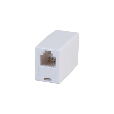 RJ12 Straight Coupler (6P6C) - White