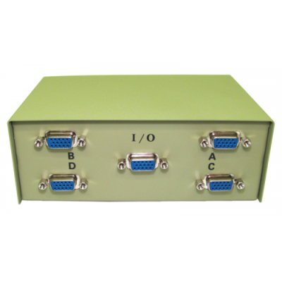 4 Way SVGA Manual Switch Box  (4 In, 1 Out)