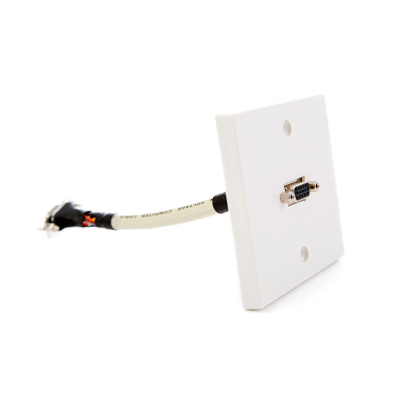 Single Gang SVGA Wall Plate. Fly Lead Coupler,