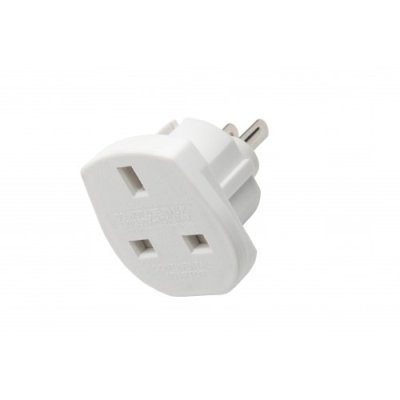 UK to US and Australian Travel Adapter - White