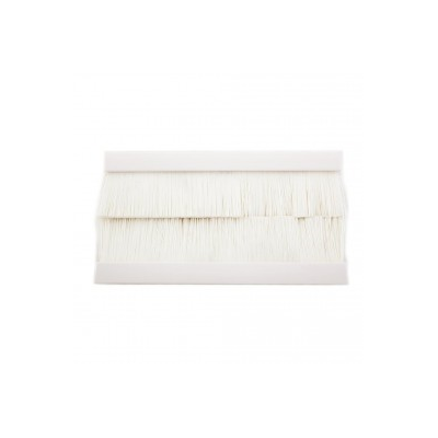 White Brush Insert Euro Module. 100x50mm
