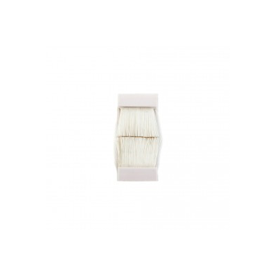 White or Black Brush Insert Euro Module. 25x50mm