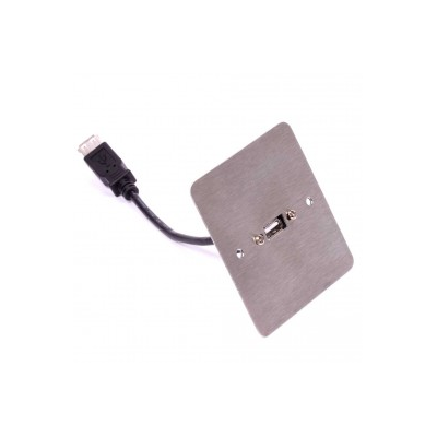 Stainless Steel SG Usb A Female Wall Plate.