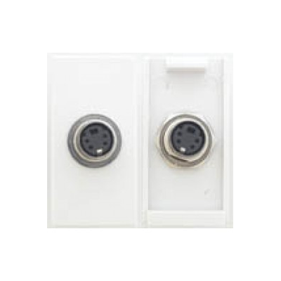 White S-Video Coupler Euro Module