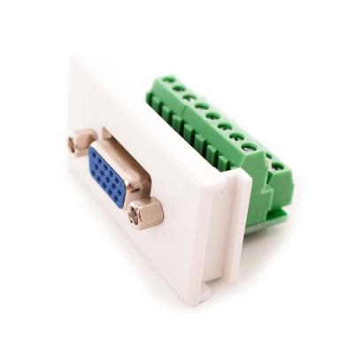 VGA Euro Module. Screw Terminal Vertical Modular PCB. 25 x 50mm