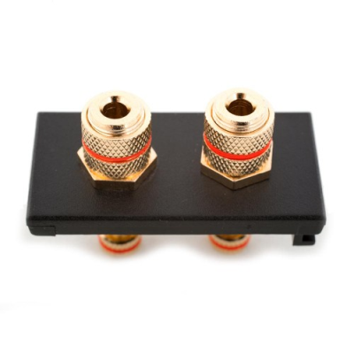 2 Speaker Euro Module. Twin Red Binding Post