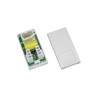 White PSTN Master Euro Module. 25x50mm