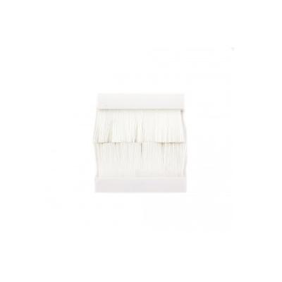 White Brush Insert Euro Module. 50x50mm