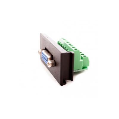 Black VGA Screw Terminal Module, Vertical PCB