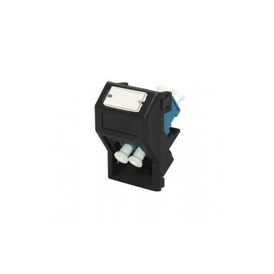 Black LJ6C LC-LC Fibre Euro Module. 25x38mm