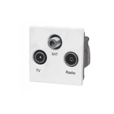 Triplex AV Euro Module Sat, TV and Radio. 50 x 50mm
