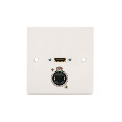 White Single Gang HDMI, CAT5E Wall Plate. 1m to 30 Meters