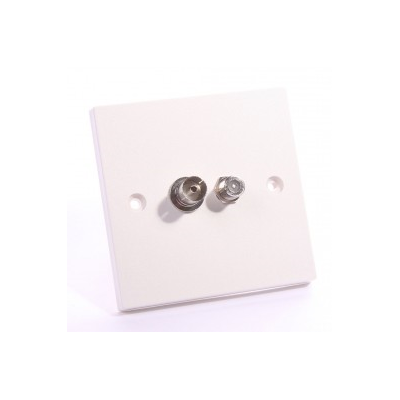 Single Gang Satellite, TV Coupler Wall Plate. Plug and Play