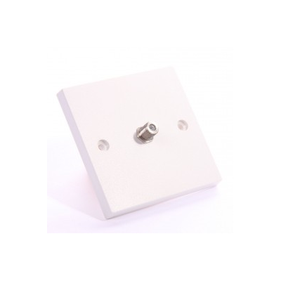 Single Gang Satellite F-Type Wall Plate. Plug and Play