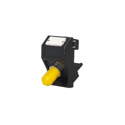 Black LJ6C ST-ST Fibre Euro Module. 25x38mm