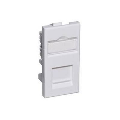 White CAT 6A FTP Euro Module. 25x50mm