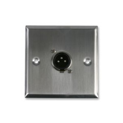 Metal Single Gang XLR Plug Solder Wall Plate