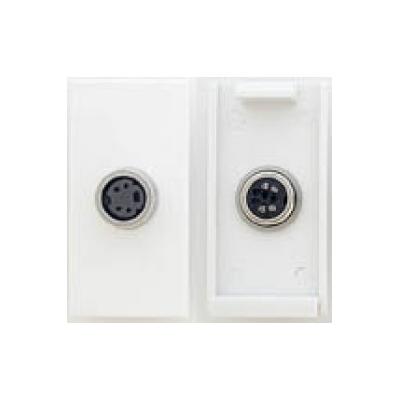 White S-Video Solder Euro Module