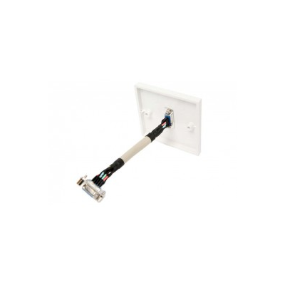 SVGA Wall Plate. Fly Lead Coupler, Single Gang SVGA Black Faceplate