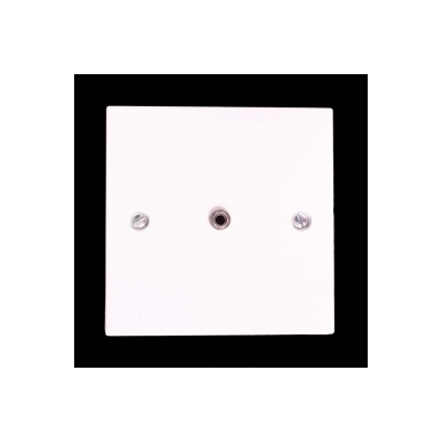 White Single Gang 3.5mm Solder Wall Plate.
