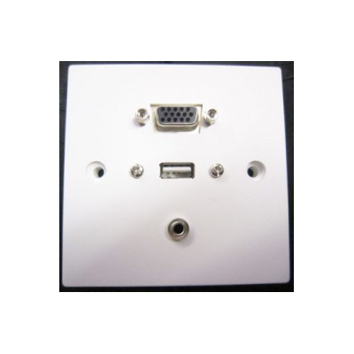 SG SVGA, USB A-A, 3.5mm Wall Plate. Plug and Play