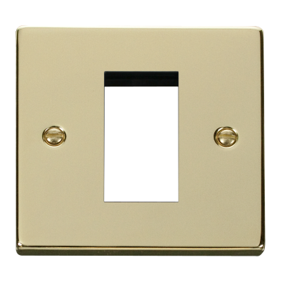 1 Gang Polished Brass Wall Plate Frame. 86x86mm
