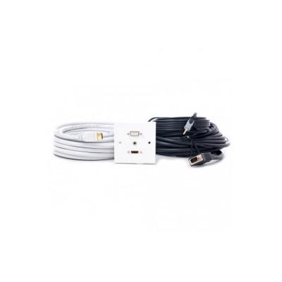 Single Gang HDMI, VGA, 3.5mm Wall Plate. 1 to 10 Metres