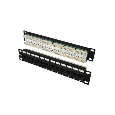 CAT6 UTP 12 Port  IDC Krone Patch Panel. 10 inc