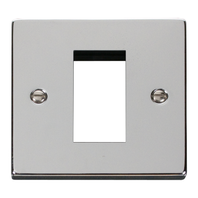 1 Gang Polished Chrome Wall Plate Frame. 86x86mm