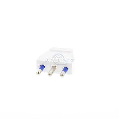 White Italian Rewireable Plug. 16a 250v