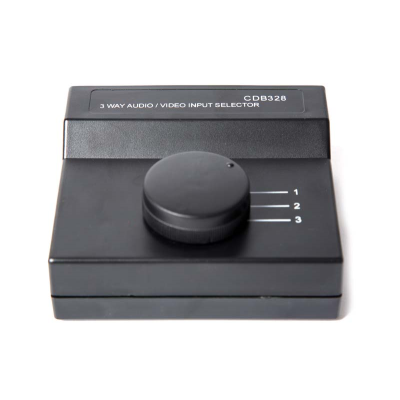 Audio/Video Input Selector Switch - 3-way