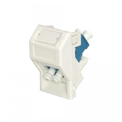 White LJ6C LC-LC Fibre Euro Module. 25x38mm
