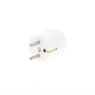 White Schuko Rewirable Plug Side Cable Entry Mould (No Photo)