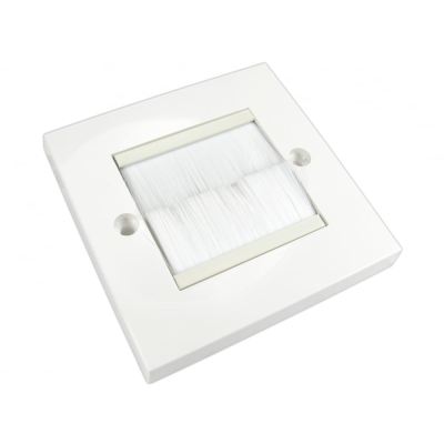 White Single Gang White Brush Wall Plate
