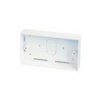45mm Deep - Double Gang Plastic Back Box (Surface Mount)