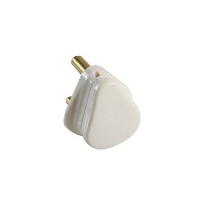 White 5 Amp 3 Pin Round Plug