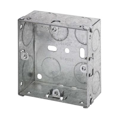35mm Deep - Single Gang Metal Back Box (Dry Lining / Wall)