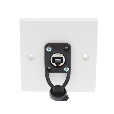 CAT6A Ethercon  F/F Shielded IP65 Dust Proof Wall Plate