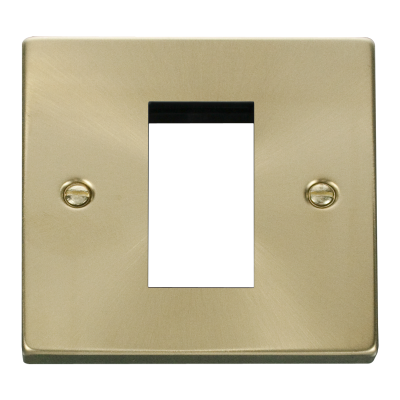 1 Gang Satin Brass Wall Plate Frame. 86xx86mm