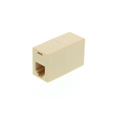 RJ12 Crossed Coupler (6P6C) - Beige