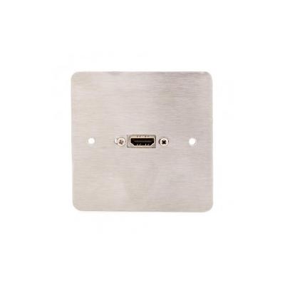 Single Gang Metal HDMI Wall Plate. 4K2K Plug and Play