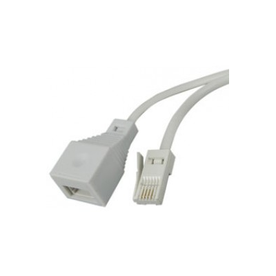 3m Telephone Extension Lead: BT socket to plug