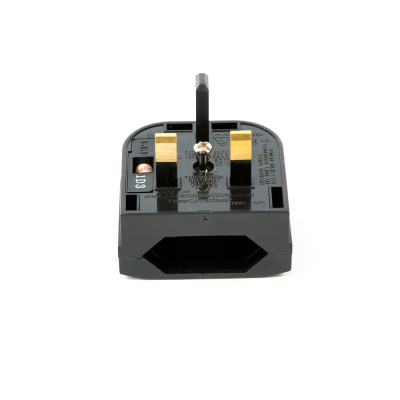 Euro to UK Quickfit converter plug Black 5 AMP (CP1)
