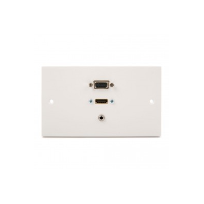 Double Gang HDMI, VGA, 3.5mm Wall Plate. 1 to 10 Metres