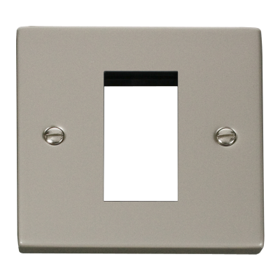 1 Gang Pearl Nickel Wall Plate Frame. 86x86mm