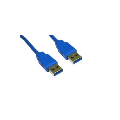 Blue 1 Metre USB A Male to A Male Superspeed 3.0 Cable.