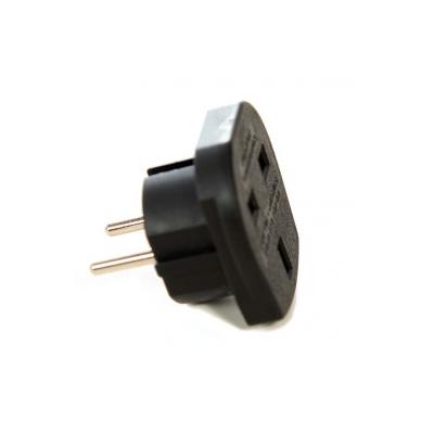 UK to Europe Travel Adaptor  - Black (16 Amp)