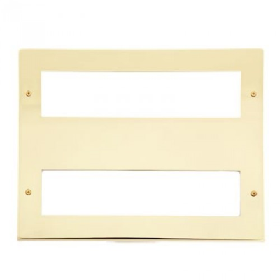16 Gang Polished Brass Wall Plate Frame. 250x215mm