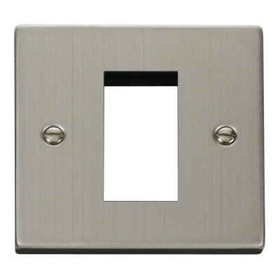 1 Gang Stainless Steel Wall Plate Frame. 86x86mm