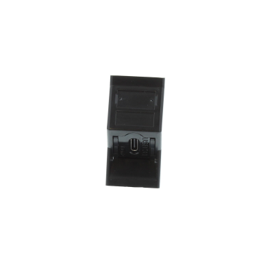 Angled Black USB Type C Euro Module